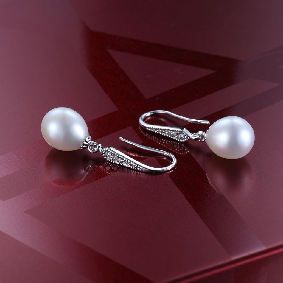 FEIGE antialérgico pendiente de perlas 8-9MM blanco perlas - Joyas - foto 5