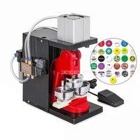 0,5 Вт Penumatic аппарат по изготовлению бэджей 25/32/37/44/50/56/58/70/75 мм Знак Maker Pin код кнопки пресс для приготовления равиоли машина 800 шт./час