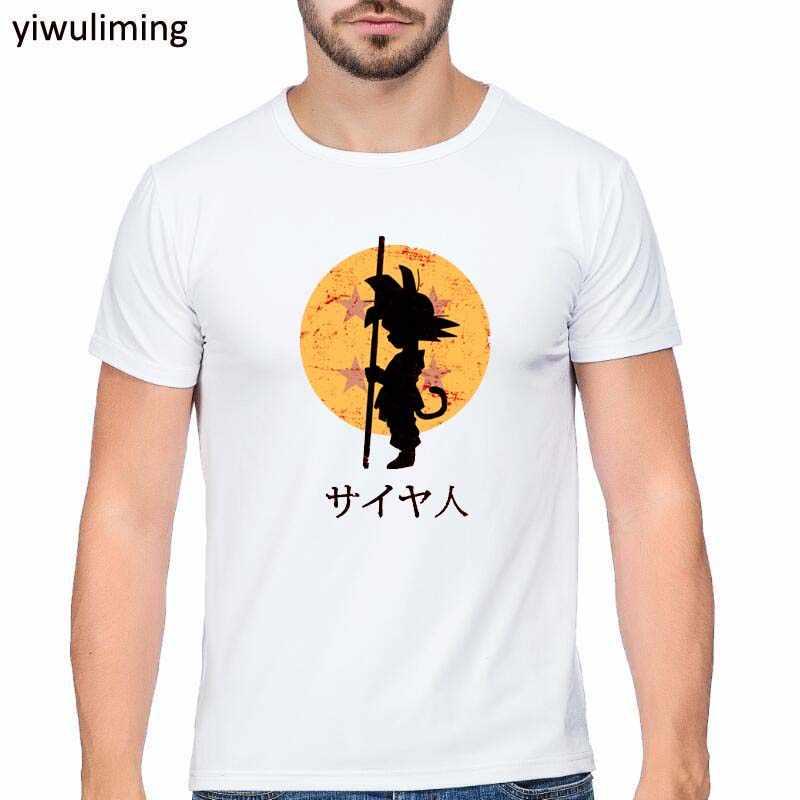 Dragon Ball Футболка супер сайян Dragon Ball Z Dbz сына футболка «Goku» Японии Вегета футболка аниме Для мужчин/топы для мальчиков футболка