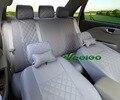 Veeleo + 7 Colores Universal Car-styling Para Chery QQ Coche-cubre fl A1 A3 A5 E3 Tiggo Coche cubre con 3D Cubierta de Asiento de Coche de Lino y Seda