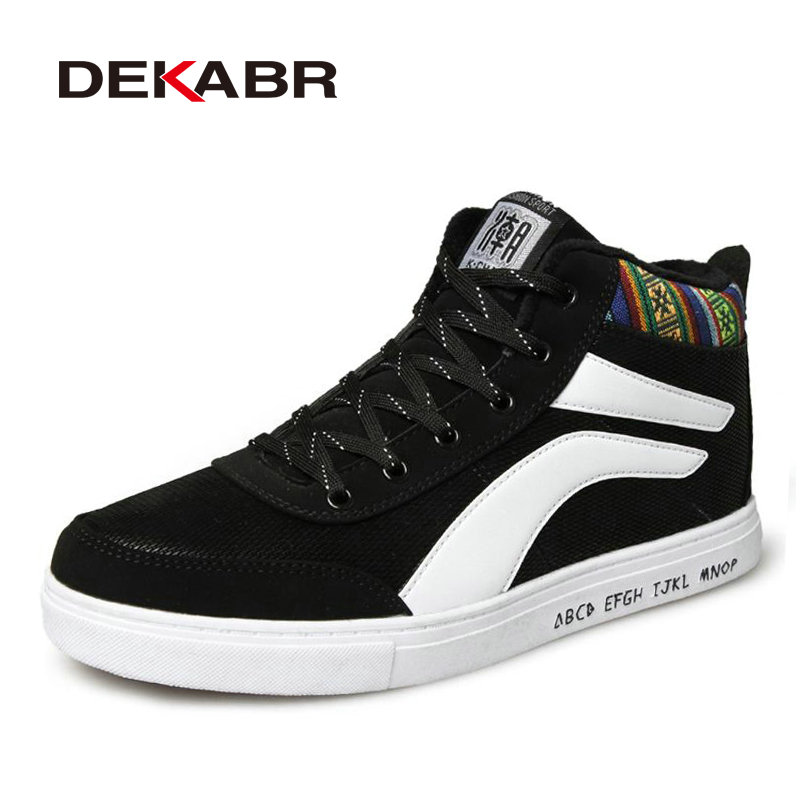 ФОТО New High Top Fur Mens Skateboarding Shoes Sports Hi-top Boots Sneakers Non-Slip Wear-Resistant Chaussure Homme Zapatos Hombre