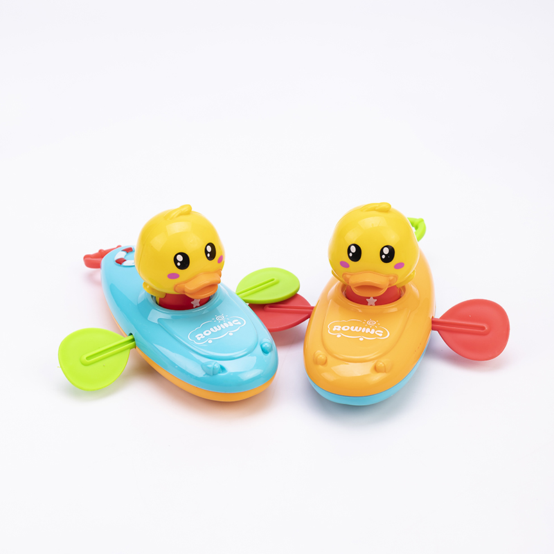 Summer Water Toys Back To The Rowing Boat Small Yellow Duck Rowing Bathing Water Children Bathroom Inflatable Pool Beach Party
