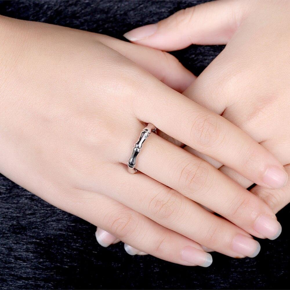 Women Men\'s New Trendy Rose White Gold Color Bamboo Round Finger ...