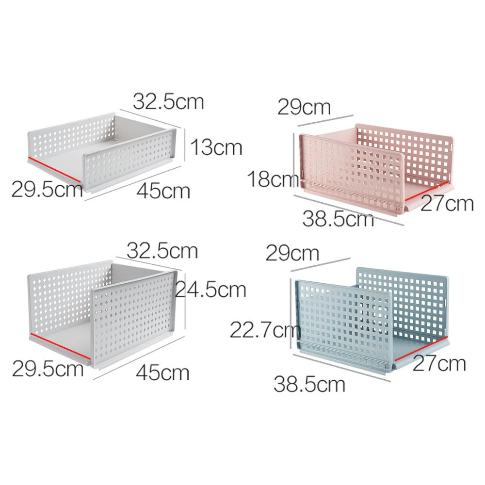 Plastic Clothes Drawer Organizer and Large Capacity Closet Divider Box in Breathable Hollow Design 5