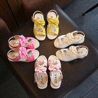 子供靴女の子ローマンスタイルの靴夏女の子サン