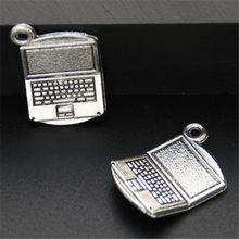 15 pces prata cor encantos do computador 3d encantos pingente para fazer jóias a576