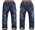 XK-105 2015 Новые Зимние Детские брюки Толстые Теплые Дети Брюки Девушки Джинсы Два Слоя Мальчик Брюки для детей