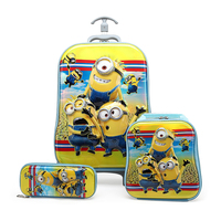 3f8d717e3a 3PCS Students School Bags Lovely Kids Climb Stairs Children S School Bags  Trolley 3D EVA Stereo