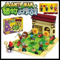 New plants vs zombies struck game toy action toy & figures Building Blocks Bricks brinquedos toys Like lepin my world minecraft