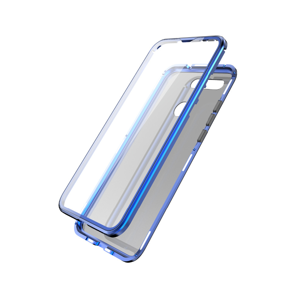 360 full protection Magnetic Flip Case For Huawei Honor View 20 Transparent Screen Tempered Glass +Metal Frame Glass Back Cover360 full protection Magnetic Flip Case For Huawei Honor View 20 Transparent Screen Tempered Glass +Metal Frame Glass Back Cover