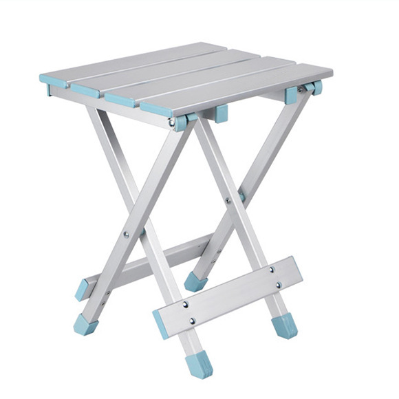 LK620 Outdoor Folding Aluminum Alloy Stool 200kg Bearing Portable Fishing Camping Stool Home Small Chair For Children 25*25*39cm bamboo bamboo portable folding stool have small bench wooden fishing outdoor folding stool campstool train