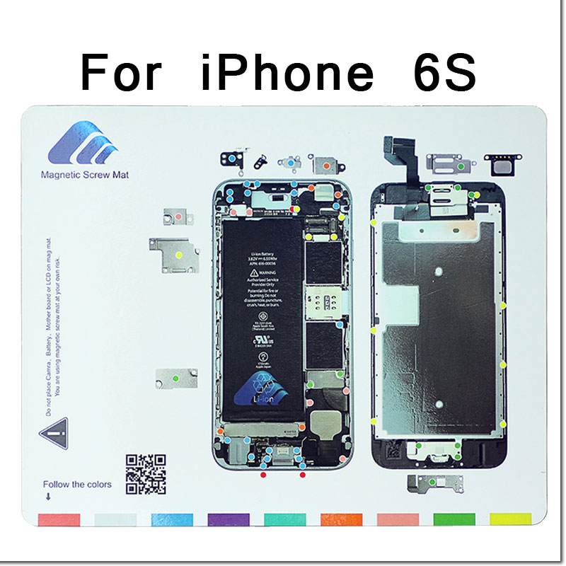 Professional Magnetic Screw Mat Work Guide Pad for iPhone 6s 6sPlus 7 7Plus 8 8Plus X Plate Repair Tool Mobile Phone Accessories ...
