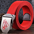2016 New Style Superman Famous Brand Designer High Quality Canvas Mens Tactical Belts Wide Luxury Male Sport Belt Women Outdoor