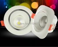 Wholesale 10W 15W Dimmable Square Round Cob Led Ceiling Lamp Recessed Down Light Lamp Led Downlights