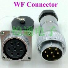 2 sets Для ВИЛКОЙ WEIPU WF28 серии 4-7-17-20-24 pin авиации разъем socket соединительный мужской Женский сварки водонепроницаемый weipu разъем
