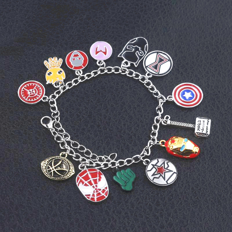 New Fashion Avengers Black panther Infinity War Charm Bracelets men women Jewelry in Charm Bracelets from Jewelry Accessories