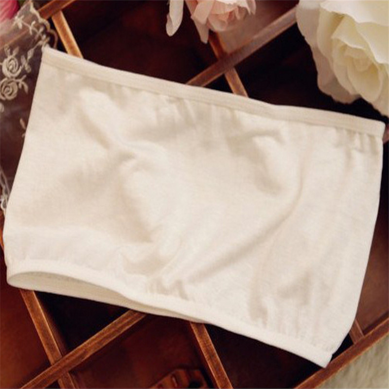 LNRRABC One Size Sexy Women Tube Tops Bandeau Thin Safety Crop Top Bra Underwear Anti Emptied Tank Top Strapless Stretch 5