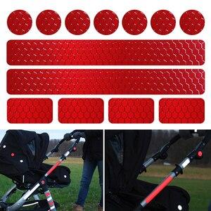 Image 1 - Светоотражающие наклейки на велосипед, клейкая лента для безопасности велосипеда, белые, красные, желтые, синие наклейки на велосипед, велосипедные аксессуары