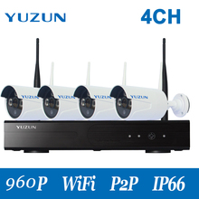 960P wifi cctv kits 4ch  wirelsss IP camera  kit  960P 500m cascade mode  HD Outdoor Home Security Camera kits