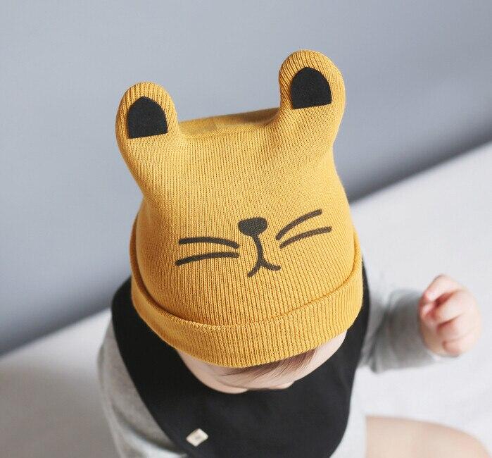 Baby Toddler Kids Boy Girl Knitted Crochet Cat Ear Beanie Winter Warm Hat Cap baby winter hat ear Dec 8