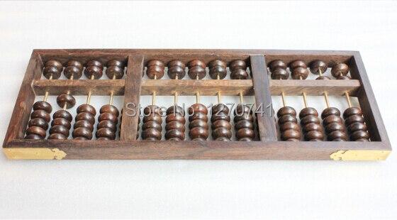 Haute qualité 15 colonne vieux bois noir boulier chinois soroban outil en mathématiques éducation pour comptable - 6