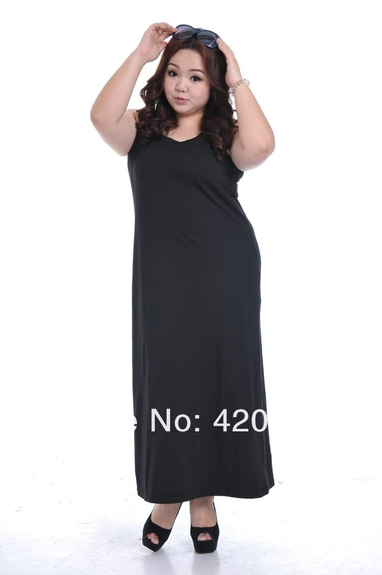 e5fe630ab7407 Bohemian Tank Top Dress Plus Size Fat Women Fashion 2014 Female Summer Large  Big Size Clothing Loose Dress Long Ankle Length