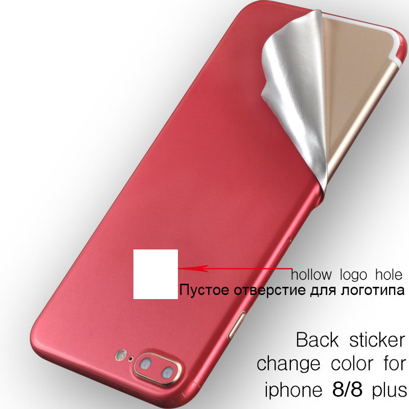 Ice Surface For iPhone 8 8 Plus Red Back Film Thin Screen Protector Protective