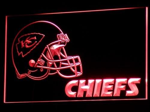 B324 Kansas City Chiefs Helmet Nr Bar Led Neon Sign With Onoff