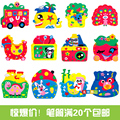 3PCS/LOT 3D DIY Pen Container Children EVA Stickers Kids Educational Toys Creatively Birthday Gifts For Kid Handmade Materials