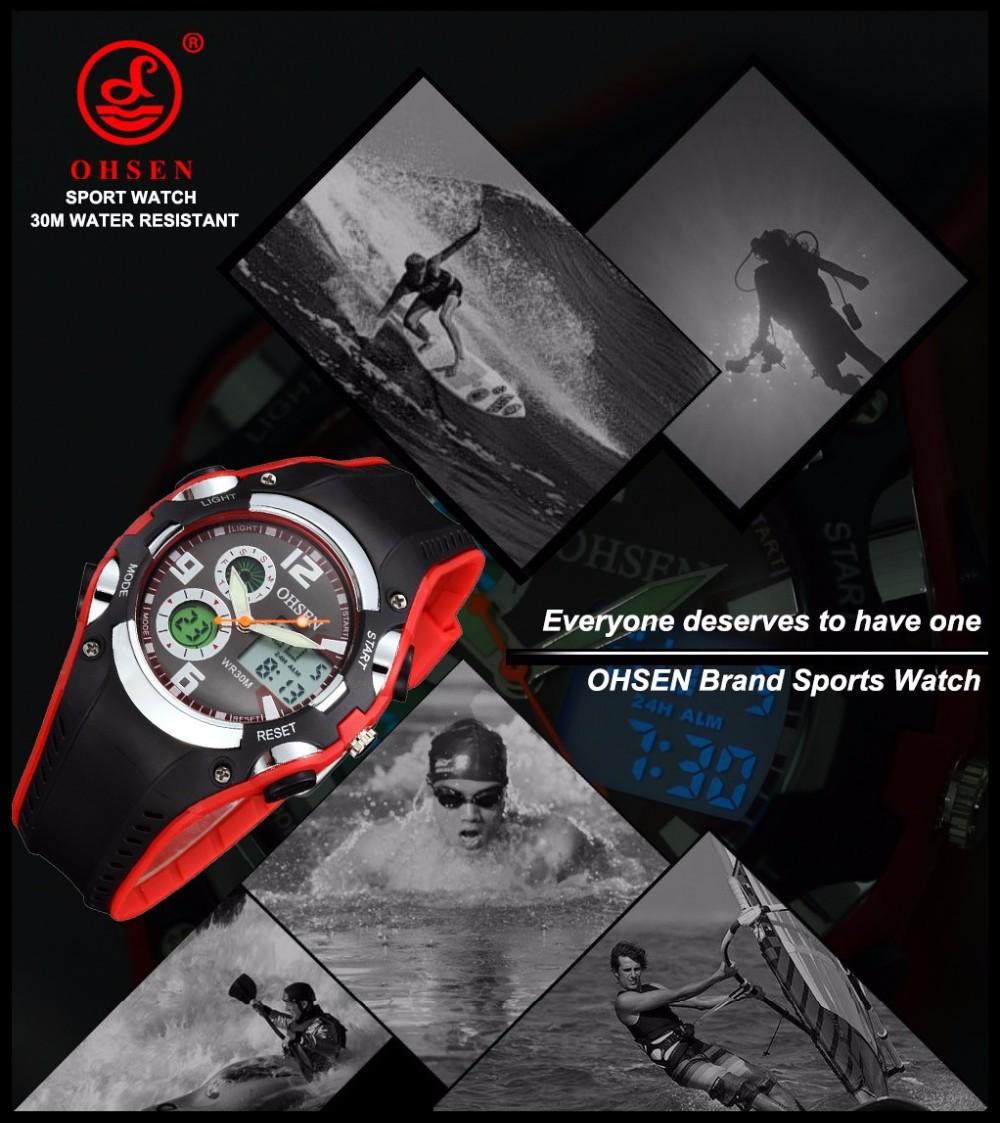Original Ohsen Brand Fashion Sports Men's Watches 30M Waterproof Rubber Black Rubber Band Digital Sport Wristwatch for Men Gift (23)