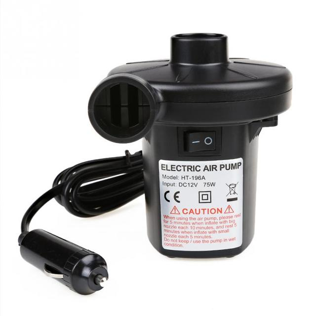 12V Car DC Electric Air Pump Inflator / Exhaust With 3 Nozzles