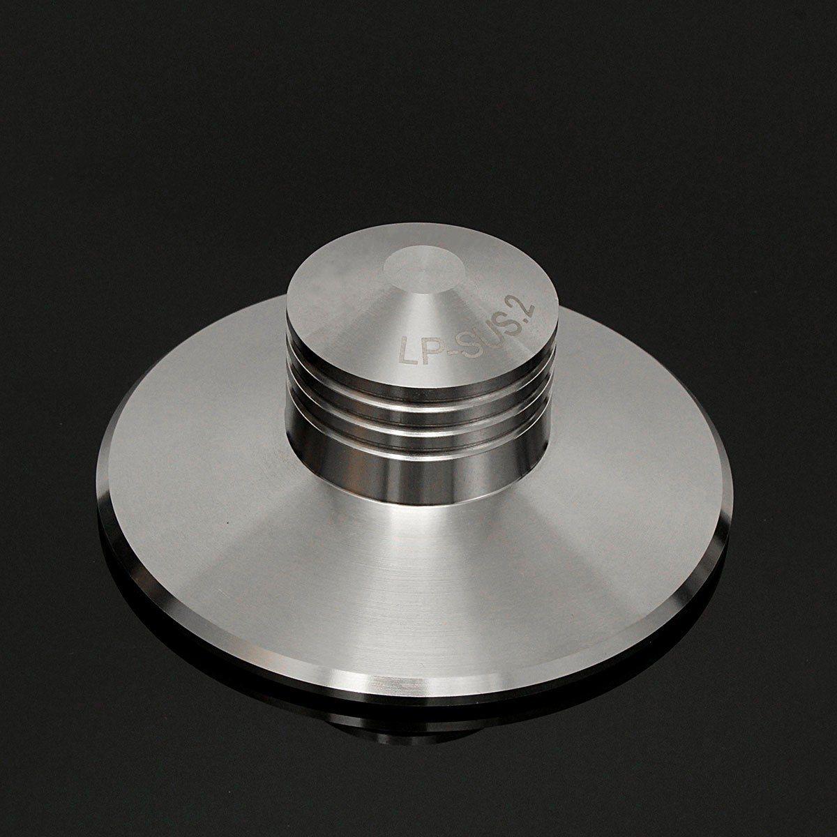 Black Record Weight Clamp LP Vinyl Turntable Hifi Aluminum Metal Disc Stabilizer