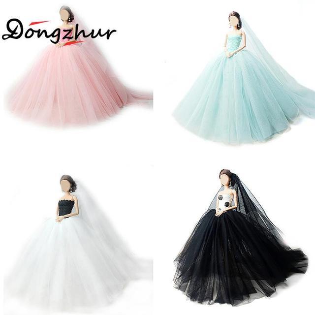 1pc Baby Born Doll Accessories 1/6 Dolls Princess Wedding Dress ...