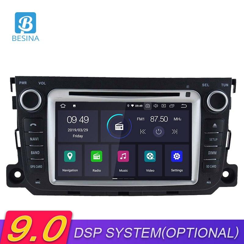 Besina 2 Din Android 9.0 lecteur DVD de voiture pour Mercedes Benz Smart 2013 2014 2015 2016 2007 2018 GPS Wifi autoradio multimédia