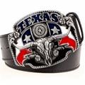 Salvaje oeste vaquero personalidad hombres cinturón de hebilla de metal cabeza de toro americana de Texas western cowboy style cinturones cinturón de tendencia para los hombres regalo