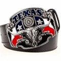 Wild west cowboy personalidade dos homens cinto de fivela de metal cabeça de touro cintos de estilo americano Texas western cowboy tendência cinto para os homens presente