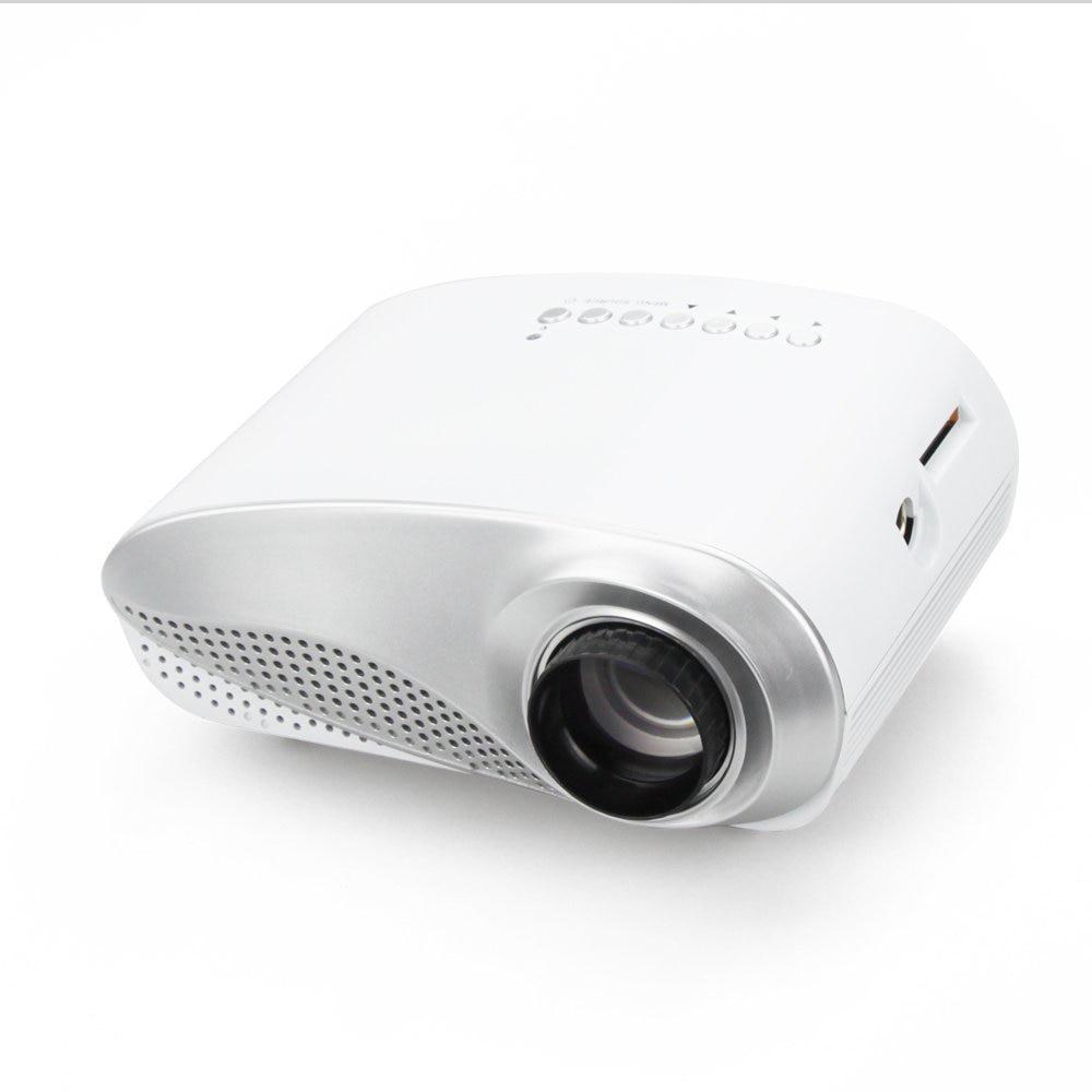 Free DHL RD802 mini portable led 3D video pico tv cinema proyetor remote support 720p 1080p