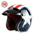 Venta caliente torc t50 ruta 66 jet casco de la motocicleta de la vendimia cara abierta del casco retro 3/4 medio casco casco de moto capacete motociclismo