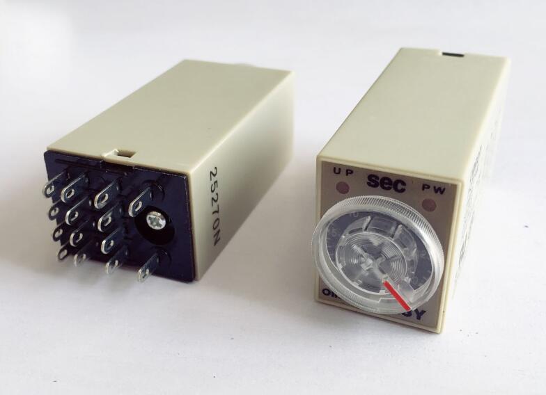 DC12V DC24V AC110V AC220V Time relay H3Y-4 Electronic delay time relay 4PDT 14 PIN 1S 5S 10S 30S 60S 180S