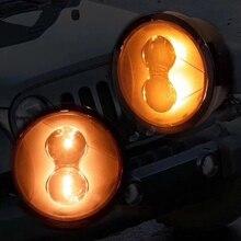 2007-2017 для Jeep Wrangler JK JKU дым объектив янтарь светодиодный спереди указатель поворота + крыло сбоку маркер парковка лампы