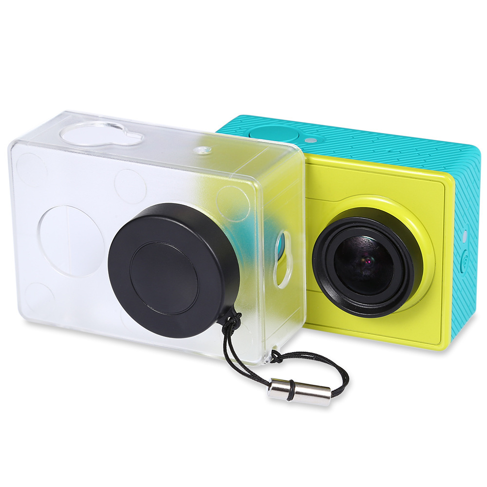 Image 2 - Crazy Sale Protective Case Skin For Xiaomi YI Action Camera Accesorios Transparent Protective Cover With Lens Cap For Xiao Yi-in Sports Camcorder Cases from Consumer Electronics