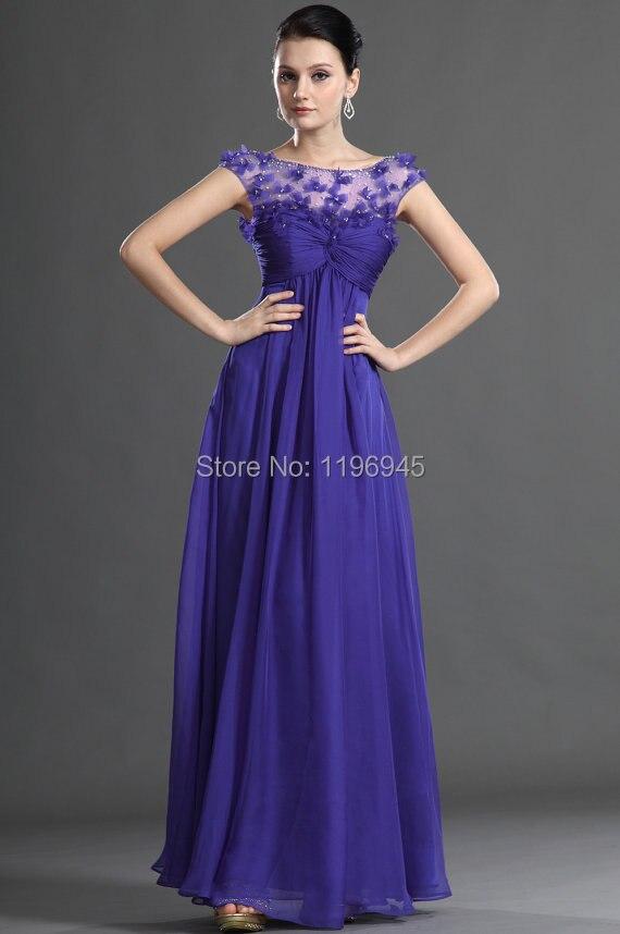Aliexpress.com : Buy 2015 Elegant Beautiful Flowers Purple Evening ...