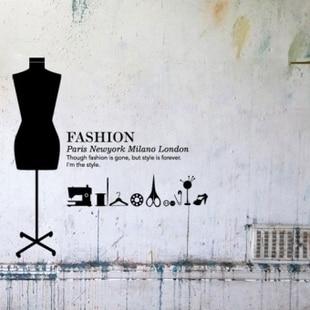 Design Studio Clothing | Fashion Design Studio Backdrop Stickers Personalized Clothing Store