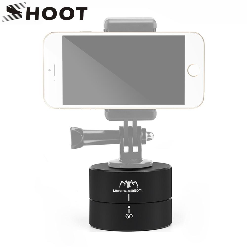SHOOT 360 Degrees Time Lapse Head dslr Phone Tripod Head for Gopro Hero6 5 4 Session Yi 4K SJCAM M10 M20 H9 hr C30 c30r Cameras