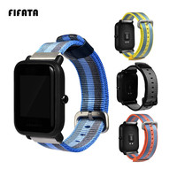FIFATA Replacement Canvas Strap For Xiaomi Huami Amazfit Bip BIT PACE Lite Youth Smart Watch Wearable