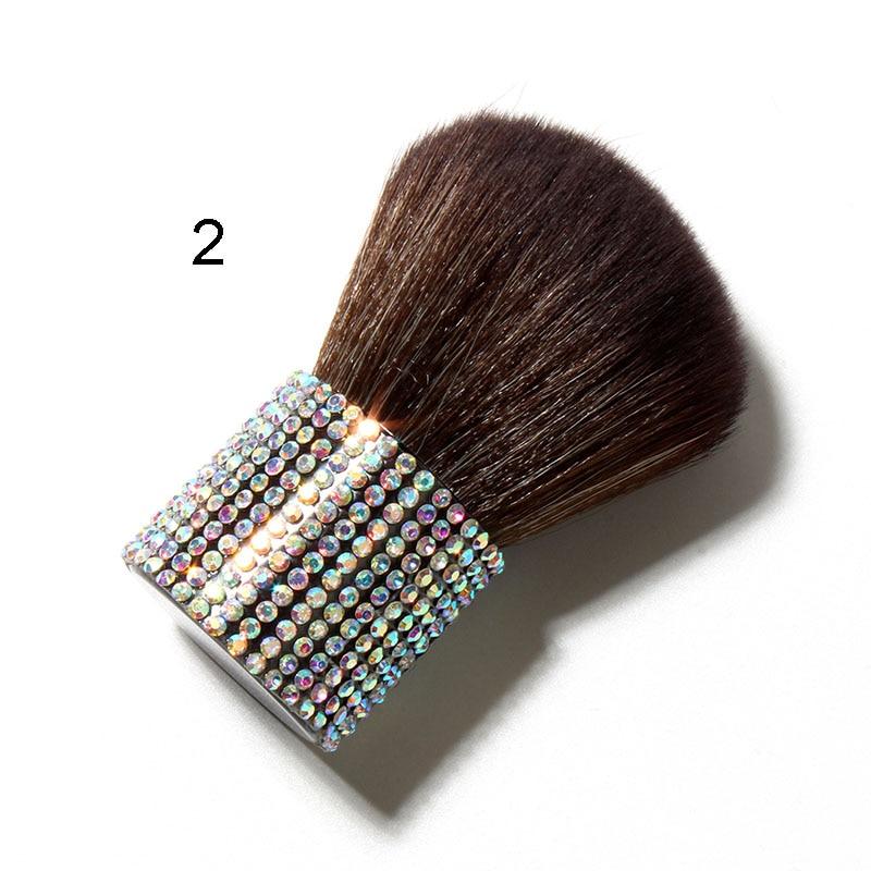 Bling Diamond Makeup brushes with holder Goat hair Unicorn Rhinestone Portable Kabuki Powder Make up Brush 1pcs Blush Blending