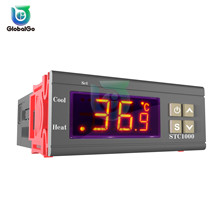 STC-1000 DC 24V LED Digital Temperature Controller Switch Thermostat Two Relay Output Temperature Sensor sestos dual digital pid ac dc 12 24v temperature controller 2 omron relay output d1s