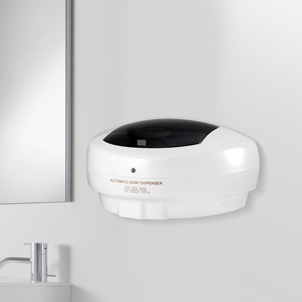 Bathroom Fixtures Nail Free 600ml Abs Automatic Liquid Soap Dispenser Wall Mounted Smart Sensor Shower Dispenser For Bathroom Washroom Liquid Soap Dispensers