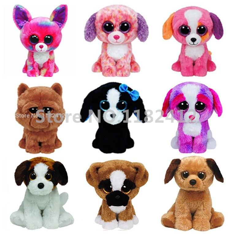 Ty Beanie Boos Dog Plush Toy Cancun Chihuahua Barley Brutus Tucker Precious London Sherbet Houston Lola Big Eyes Stuffed Animals