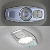 Stainless Steel Interior Rear Roof Dome Reading Light Map Lamp Decoration Cover Trim 1Pc For Edge